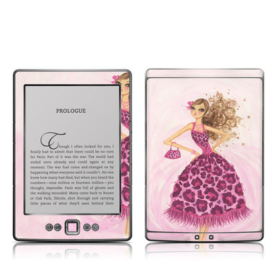 Kindle 4 Skin - Perfectly Pink