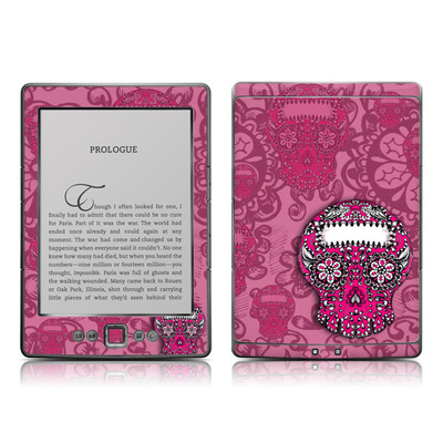 Kindle 4 Skin - Pink Lace