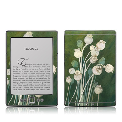 Kindle 4 Skin - Poppy Pods
