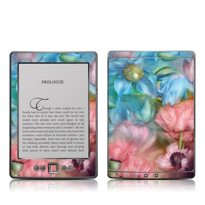 Kindle 4 Skin - Poppy Garden