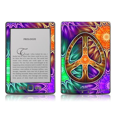 Kindle 4 Skin - Peace Triptik