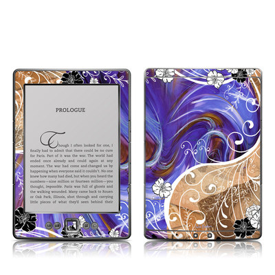 Kindle 4 Skin - Purple Waves