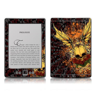 Kindle 4 Skin - Radiant Skull