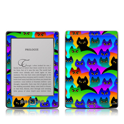 Kindle 4 Skin - Rainbow Cats