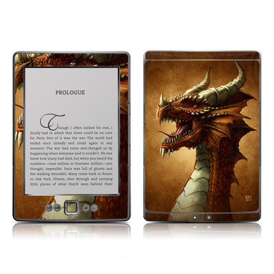 Kindle 4 Skin - Red Dragon