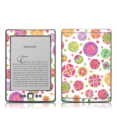 Kindle 4 Skin - Round Flowers