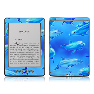 Kindle 4 Skin - Swimming Dolphins