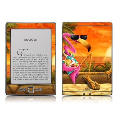 Kindle 4 Skin - Sunset Flamingo