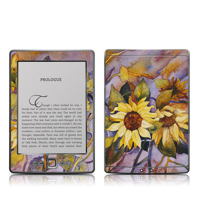 Kindle 4 Skin - Sunflower
