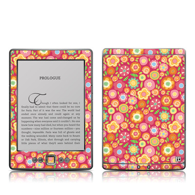 Kindle 4 Skin - Flowers Squished