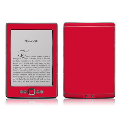 Kindle 4 Skin - Solid State Red