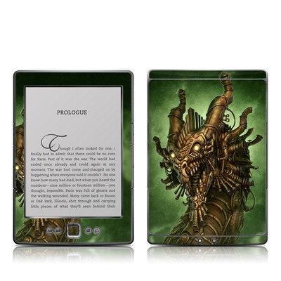 Kindle 4 Skin - Steampunk Dragon