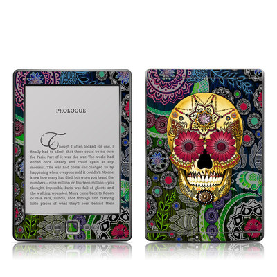 Kindle 4 Skin - Sugar Skull Paisley