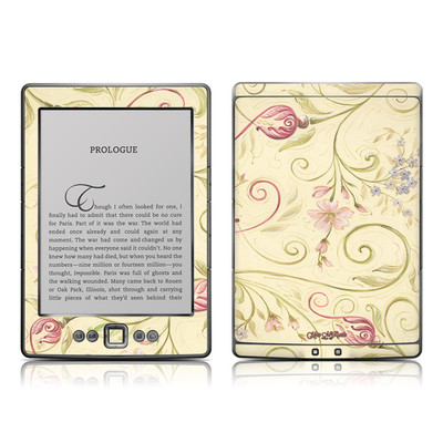 Kindle 4 Skin - Tulip Scroll