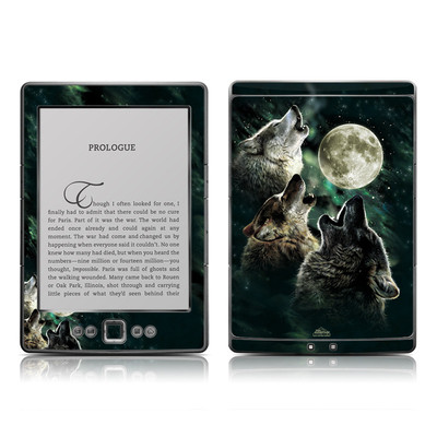 Kindle 4 Skin - Three Wolf Moon