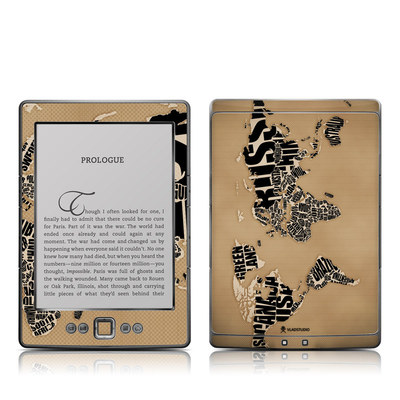 Kindle 4 Skin - Type Map