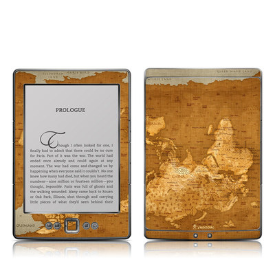 Kindle 4 Skin - Upside Down Map