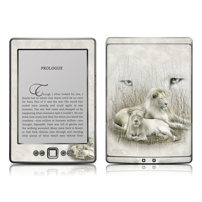 Kindle 4 Skin - White Lion