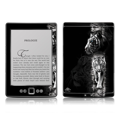 Kindle 4 Skin - White Tiger