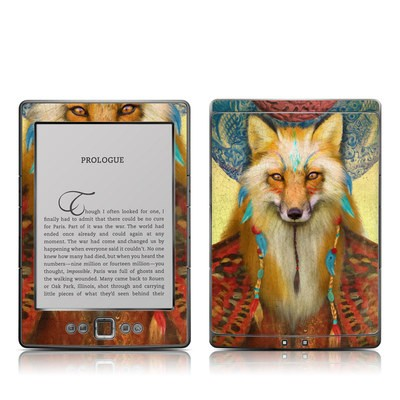 Kindle 4 Skin - Wise Fox