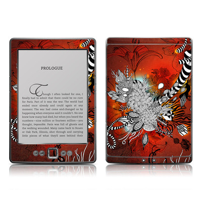 Kindle 4 Skin - Wild Lilly