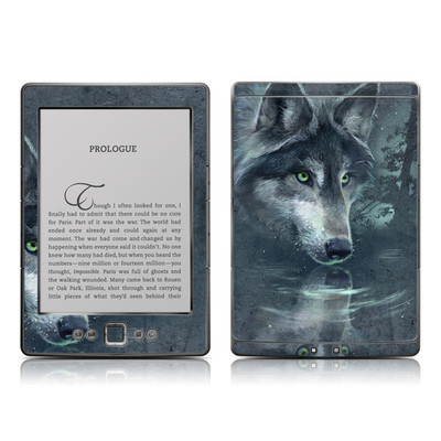 Kindle 4 Skin - Wolf Reflection