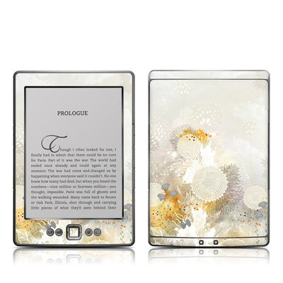 Kindle 4 Skin - White Velvet