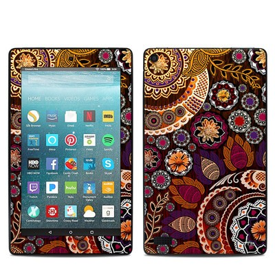 Amazon Kindle Fire 7in 7th Gen Skin - Autumn Mehndi
