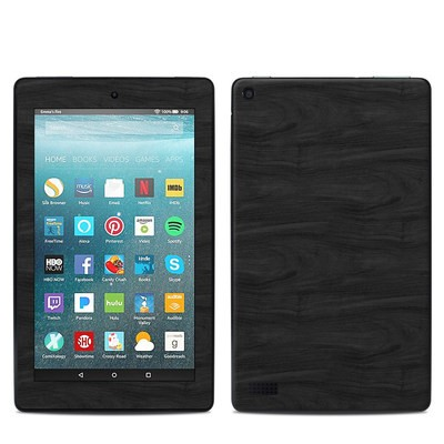 Amazon Kindle Fire 7in 7th Gen Skin - Black Woodgrain