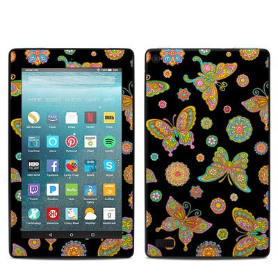 Amazon Kindle Fire 7in 7th Gen Skin - Butterfly Flowers