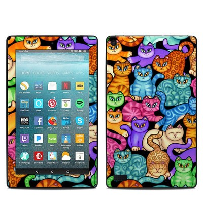 Amazon Kindle Fire 7in 7th Gen Skin - Colorful Kittens