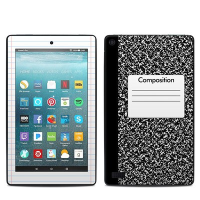 Amazon Kindle Fire 7in 7th Gen Skin - Composition Notebook