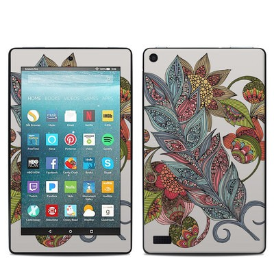 Amazon Kindle Fire 7in 7th Gen Skin - Feather Flower