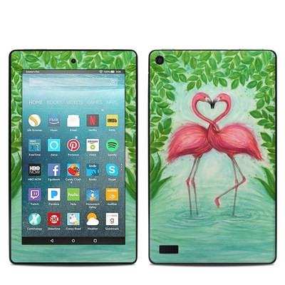 Amazon Kindle Fire 7in 7th Gen Skin - Flamingo Love