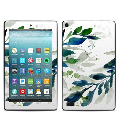 Amazon Kindle Fire 7in 7th Gen Skin - Floating Leaves