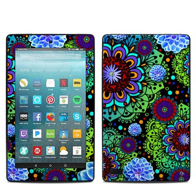 Amazon Kindle Fire 7in 7th Gen Skin - Funky Floratopia