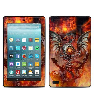 Amazon Kindle Fire 7in 7th Gen Skin - Furnace Dragon