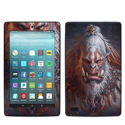 Amazon Kindle Fire 7in 7th Gen Skin - Gruddur Orangefist