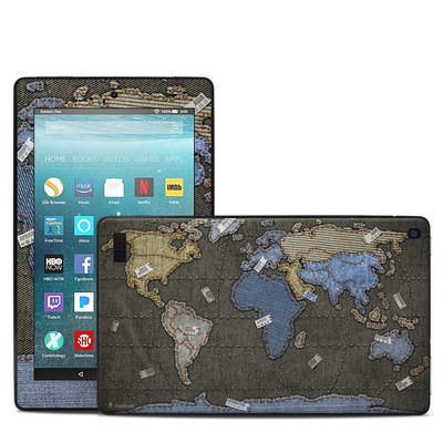 Amazon Kindle Fire 7in 7th Gen Skin - Jean Map
