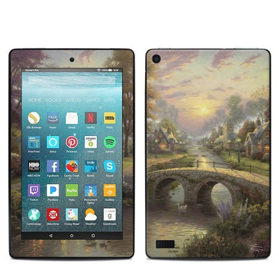 Amazon Kindle Fire 7in 7th Gen Skin - Sunset On Lamplight Lane