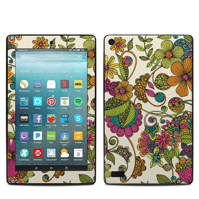 Amazon Kindle Fire 7in 7th Gen Skin - Maia Flowers