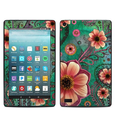 Amazon Kindle Fire 7in 7th Gen Skin - Paisley Paradise
