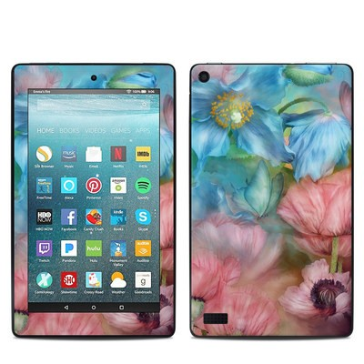 Amazon Kindle Fire 7in 7th Gen Skin - Poppy Garden