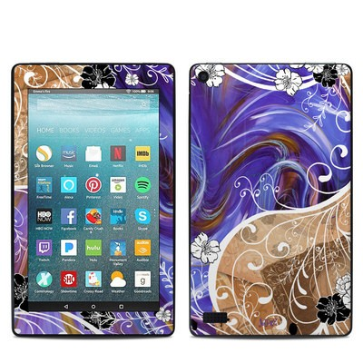 Amazon Kindle Fire 7in 7th Gen Skin - Purple Waves
