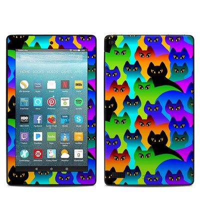Amazon Kindle Fire 7in 7th Gen Skin - Rainbow Cats
