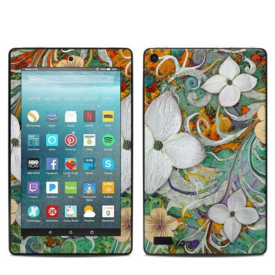 Amazon Kindle Fire 7in 7th Gen Skin - Sangria Flora