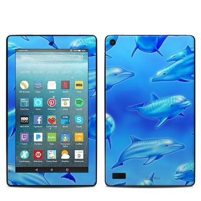 Amazon Kindle Fire 7in 7th Gen Skin - Swimming Dolphins