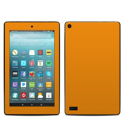 Amazon Kindle Fire 7in 7th Gen Skin - Solid State Orange