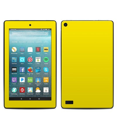 Amazon Kindle Fire 7in 7th Gen Skin - Solid State Yellow