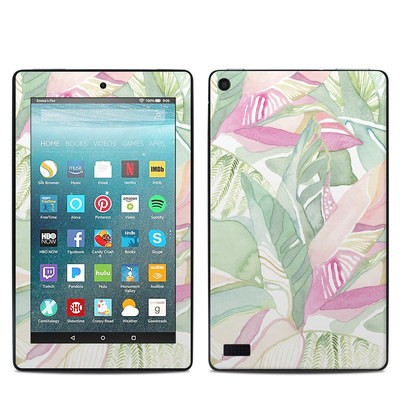 Amazon Kindle Fire 7in 7th Gen Skin - Tropical Leaves